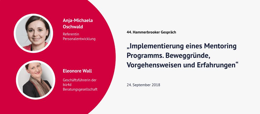 44. Hammerbrooker Gespräch – Anja-Michaela Oschwald & Eleonere Wall