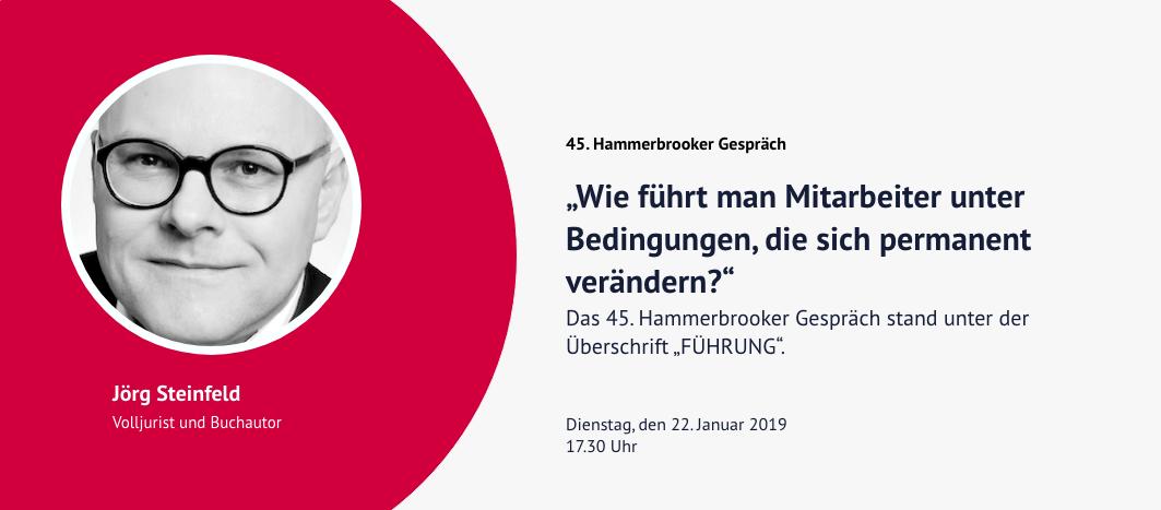 45. Hammerbrooker Gespräch – Jörg Steinfeld
