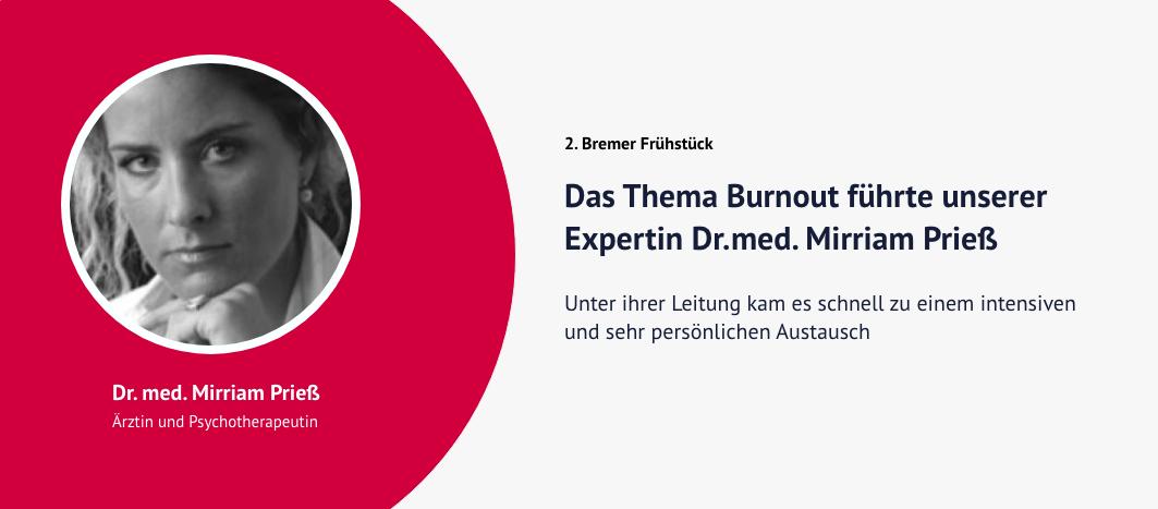 2. Bremer Frühstück – Dr. med. Mirriam Prieß