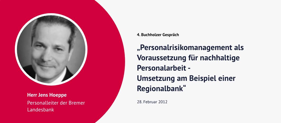 4. Buchholzer Gespräch – Jens Hoeppe
