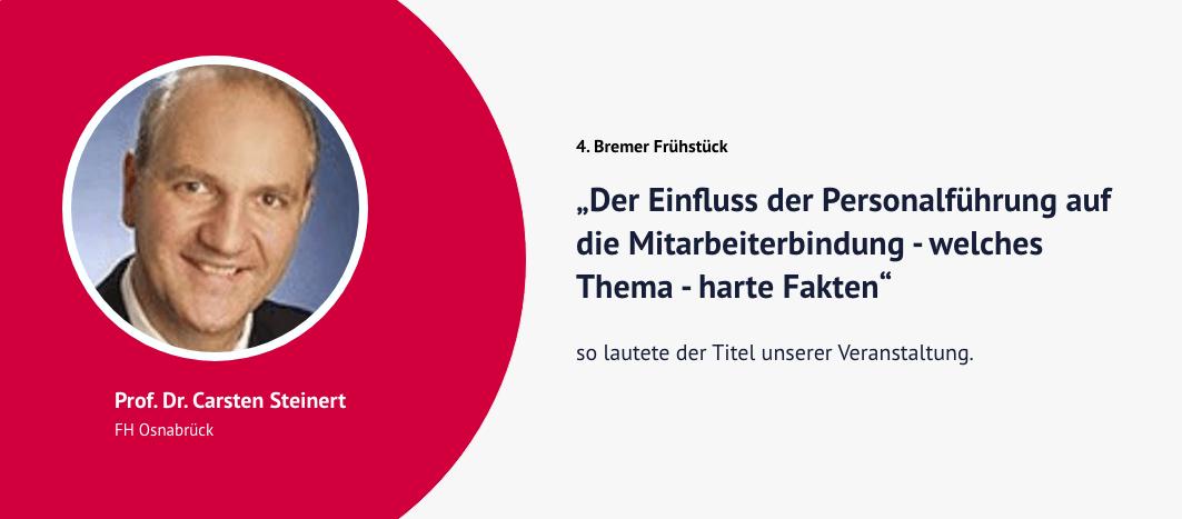 4. Bremer Frühstück – Prof. Dr. Carsten Steinert