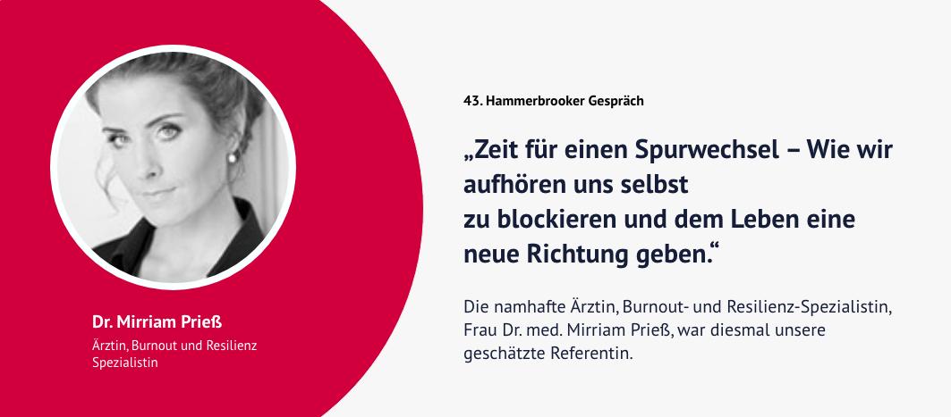 43. Hammerbrooker Gespräch – Dr. Mirriam Prieß