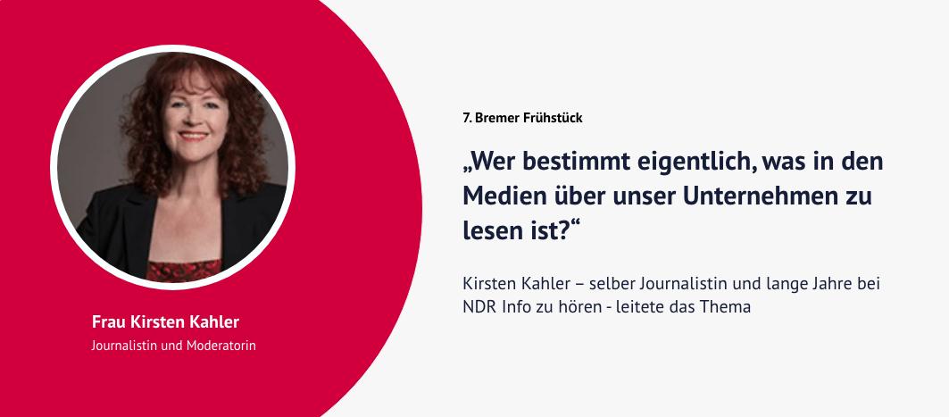 7. Bremer Frühstück – Kirsten Kahler