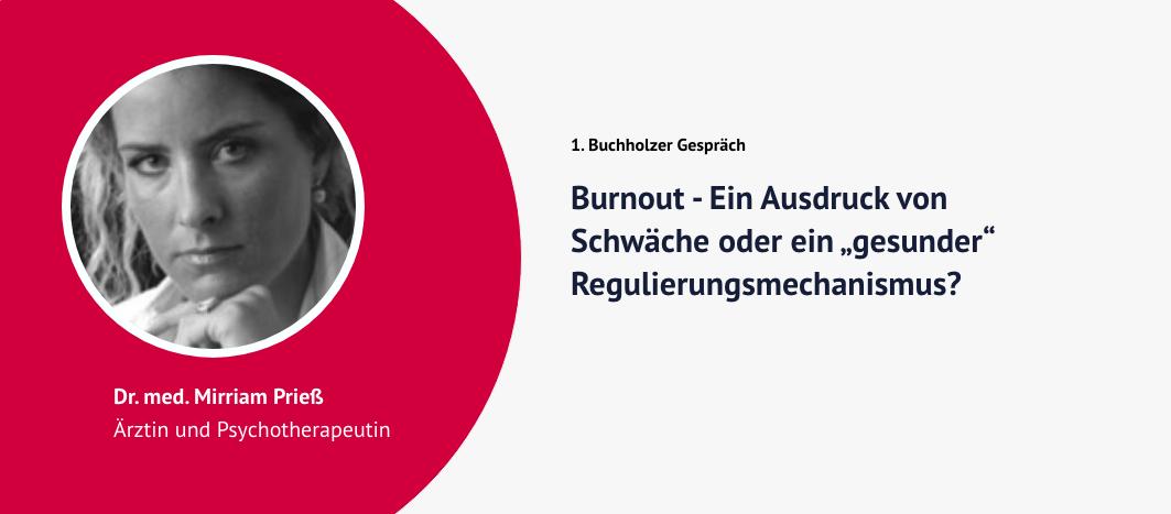 1. Buchholzer Gespräch – Dr. Mirriam Prieß