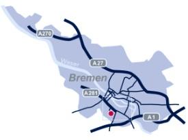 Karte Bremen